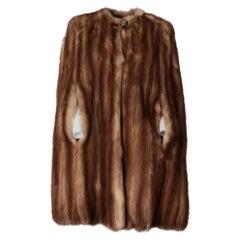 1980s A.N.G.E.L.O. Vintage Cult brown sable fur cape