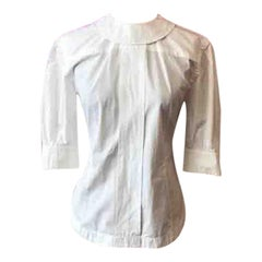 Louis Vuitton White Cotton Fetish Shirt Fall 2011 Runway