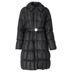 2000s Moncler black quilted goose down padded jacket