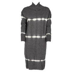 2000s Callaghan ivory tie-dye grey knitwear dress with ribbed collar
