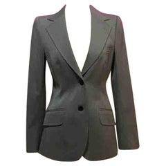 Dolce & Gabbana Gray Wool Gabardine Blazer