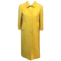 Dolce & Gabbana Yellow Wool 1960s Style Coat