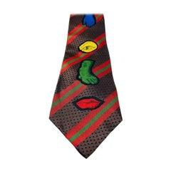 Jean Paul Gaultier Vintage Men's Silk Lips Tie