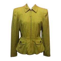 jean-Paul Gaultier Vintage Yellow Chartreuse Blazer