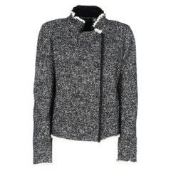 2000s Karl Lagerfeld salt and pepper wool blend jacket