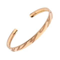 Chopard Chopardissimo 18K Rose Gold Open Cuff Bangle Bracelet