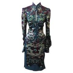 Tom Ford Yves Saint Laurent Chinese Dragon Dress
