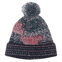 Chanel Wool & Cashmere Blend Knit Beanie