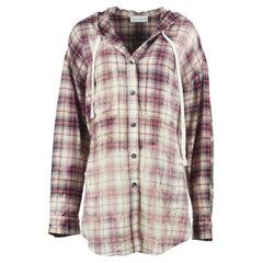 Faith Connexion Hooded Checked Cotton Flannel Shirt