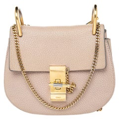 Chloé Beige Leather Small Drew Shoulder Bag