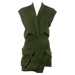 Alexandre Vauthier Asymmetric Effect Crepe Mini Dress