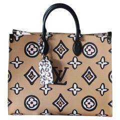 Brand New Louis Vuitton Arizona Beige Onthego Wild at Heart Bag, 2021 Special Ed