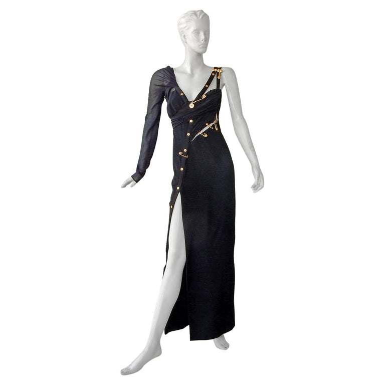 Versace Iconic New Version of the Safety Pin Evening Dress   New For Sale