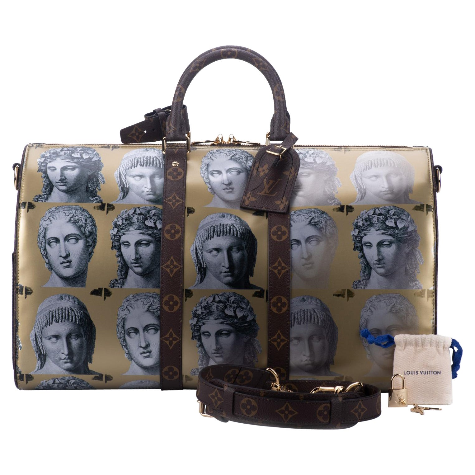 Louis Vuitton Limited Edition Fornasetti Keepall 45 Bag