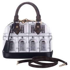 New Louis Vuitton Alma Fornasetti Limited Edition Bag with Box
