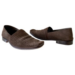 Louis Vuitton Suede Perforated Shoes