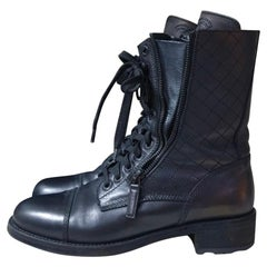 Chanel Quilted Combat Boot