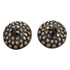 Vintage JEAN PAUL GAULTIER Ethnic Studded Disc Earrings