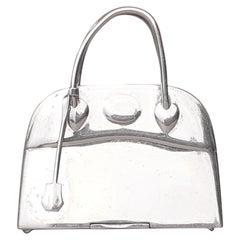 Hermès Vintage Smallest Mini Micro Bolide Bag Pill Box Sterling Silver Rare