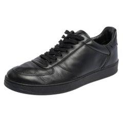 Louis Vuitton Black Leather Rivoli Sneakers Size 41.5