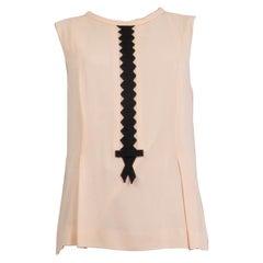 MOSCHINO pink silk Sleeveless Blouse Shirt 42 M