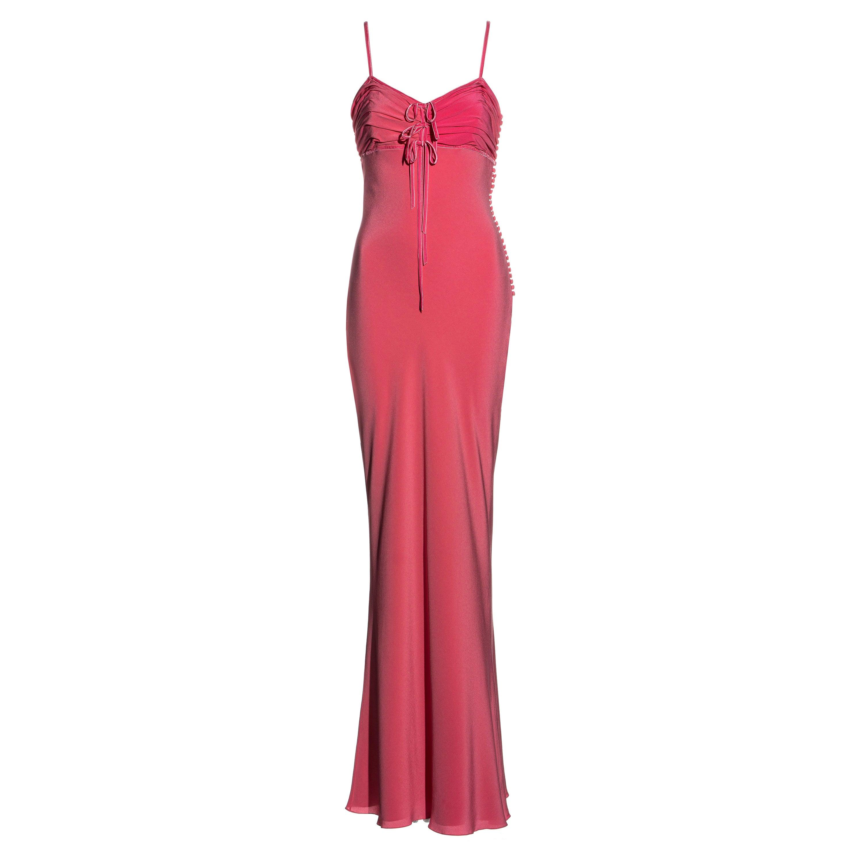 Christian Dior by John Galliano pink silk maxi dress, ss 2006