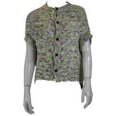 Y's by Yohji Yamamoto Marled Knit Cardigan