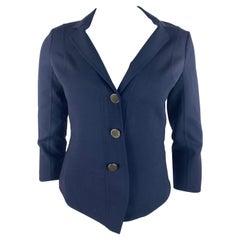 Celine Navy Blazer Jacket, Size 38