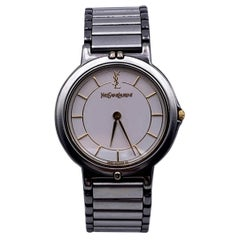 Yves Saint Laurent Vintage Silver Round Watch 2823 266458 YO