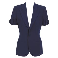 Jean Paul Gaultier iconique vintage bow sleeve navy bleu jacket