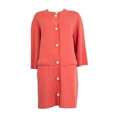 MOSCHINO CHEAP&CHIC pink wool PEARL BUTTON KNIT Coat Jacket 46 XL