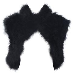 ELIZABETH MASON COUTURE Black Marabou & Silk Shrug