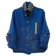Jacket Distressed Collectible Original French Blue Work Wear J Dauphin