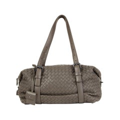 BOTTEGA VENETA khaki green INTRECCIATO leather MONTAIGNE Shoulder Bag