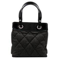 2009 Chanel Paris-Biarritz Metiers d' Art Grey Wool Tote Bag