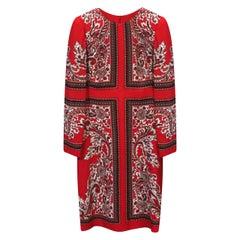 NEW ALEXANDER McQueen VISCOSE RED DRESS 40