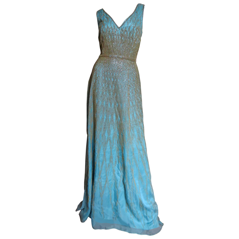 Vintage Carolina Herrera Pleated Wool Crepe Dress Pleated Marigold ...