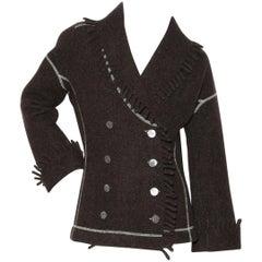 Azzedine Alaïa Fringe Detail Jacket
