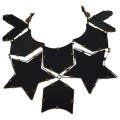 Massive YVES SAINT LAURENT Ysl Star Plexiglas Plastron Breastplate Necklace