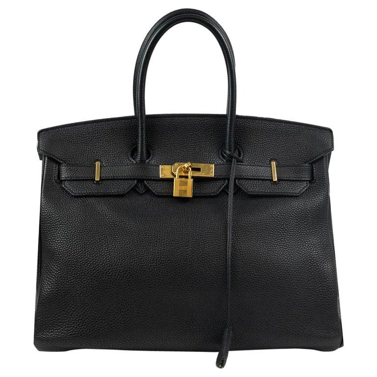 Birkin 35 in black leather For Sale
