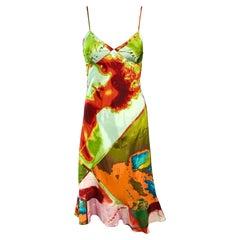 """Jean Paul Gaultier c.1990 Vintage """"Portraits"""" Print Dress"""