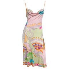 Leonard Paris Silk Jersey Draped Bodice Slip Dress