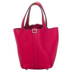 New in Box Hermès 18cm Rose Mexico Picotin Bag
