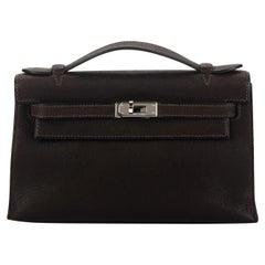 Hermès Brown Pecari Leather Kelly Pouchette Bag