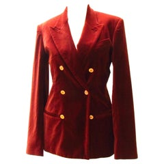 Jean Paul Gaultier Rust Colored Velvet Blazer