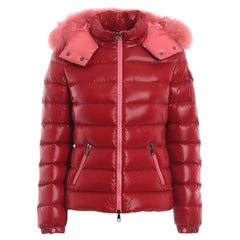 Moncler Red Badyfur Down Jacket w/ Detachable Fox Trim & Hood sz 1/US S