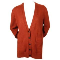 CELINE by PHOEBE PHILO rust cashmere cardigan