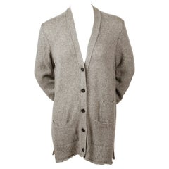 CELINE by PHOEBE PHILO heathered grey cashmere cardigan
