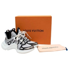 Louis Vuitton Archlight Black & Silver Mesh & Leather Trainers - US 11.5