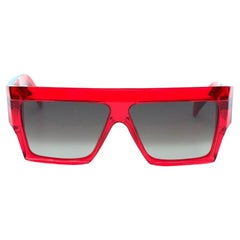 Celine Red Square Acetate Sunglasses